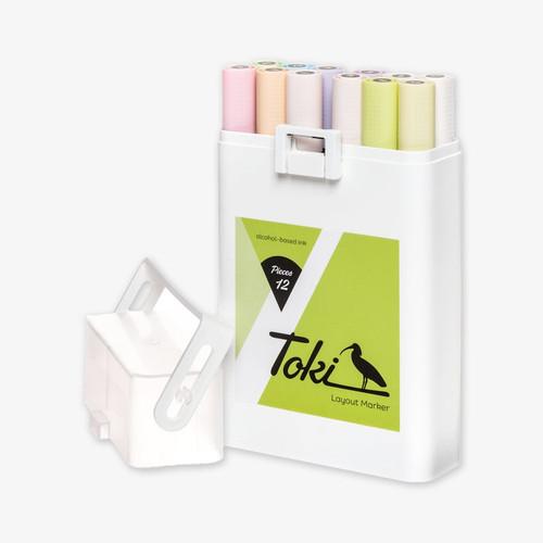 Toki Twin-Tip Marker Pastel Set