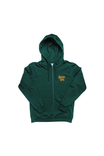 Montana Shapiro Tag Zip Hood Green