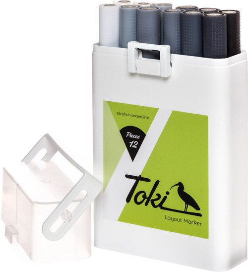 Toki Twin-Tip Marker Grey Set