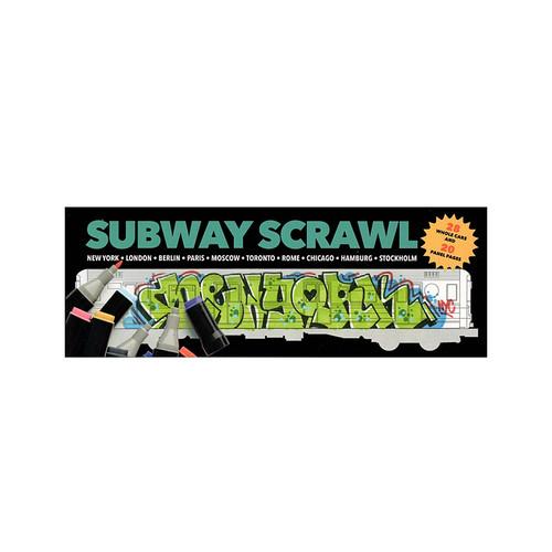 Subway Scrawl Colouring Book