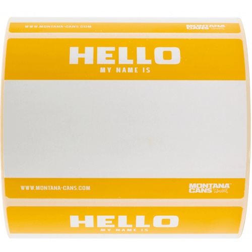 Montana Hello My Name Is Sticker Pack Yellow x8