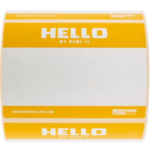 Montana Hello My Name Is Sticker Pack Yellow x8