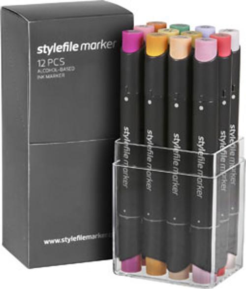 Stylefile Marker 12 Set - Multi Sets