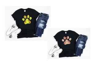 Softball Paw/Baseball Paw Graphic Tee - Adult/Youth