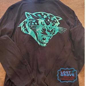 Electric Teal Jaguar Long Sleeve Tee