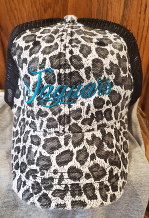 Jaguar Distressed Trucker Cap