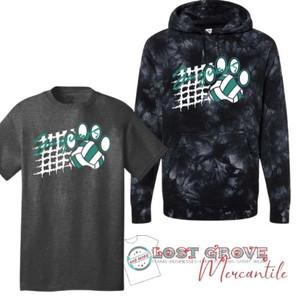 Jaguar Volleyball Tee/Tie Dye Hoodie