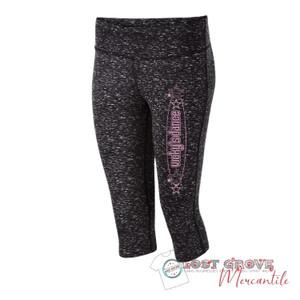 Black Space Dye Capri Leggings