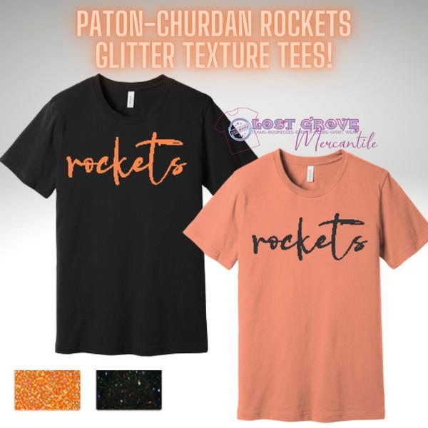 Rockets Glitter Fashion Tee