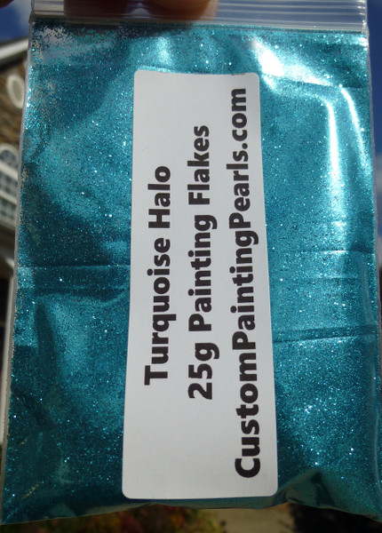 "Turquoise Halo Flakes .008"""