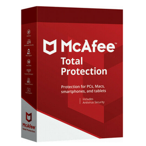 McAfee Total Protection 2021 1 Year Unlimited Devices Security Antivirus