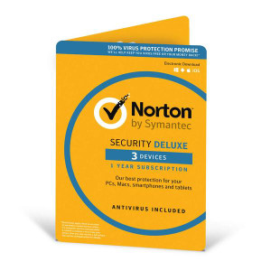 Norton Security Deluxe 2021 1 Year 3 Devices Users Malware Antivirus