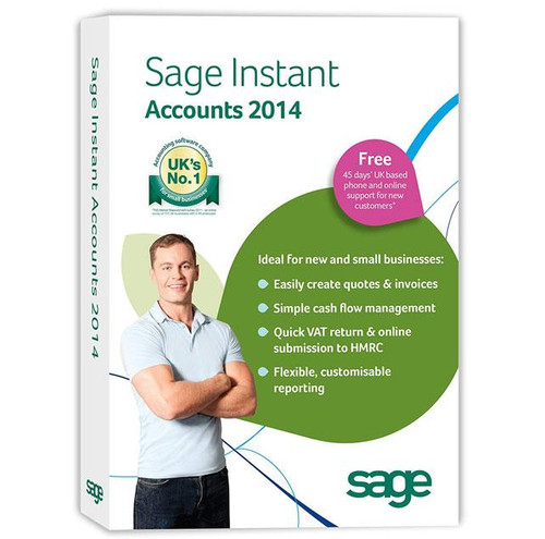 Sage Instant Accounts 2014 - Small Business Bookkeeping Download