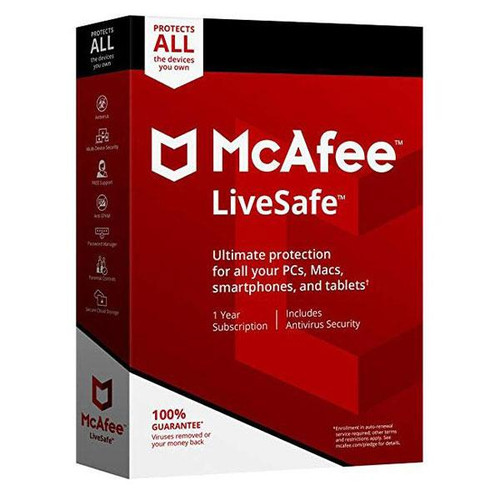 McAfee LiveSafe - Unlimited Devices 1 Year
