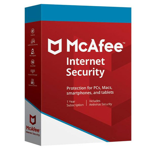 McAfee Internet Security 2019 1 Year Unlimited devices - Europe Key