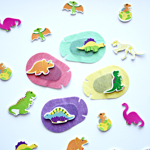 Dinosaur stickers for eye patches