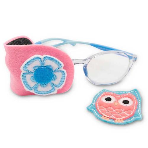 Fabric Eye Patch Set : Owl + Flower Set