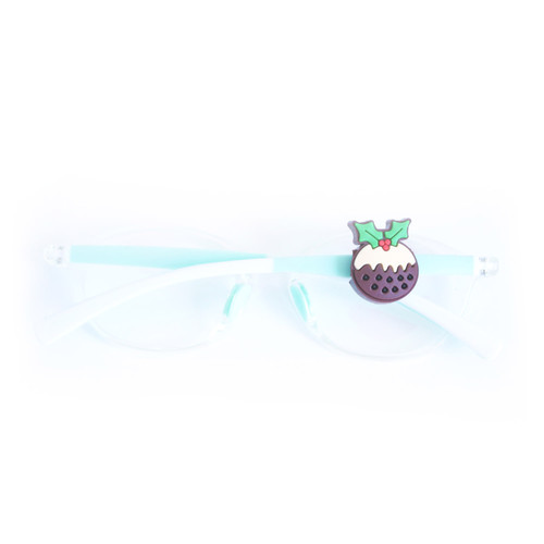 Blinx Christmas Pudding eyewear charm for glasses