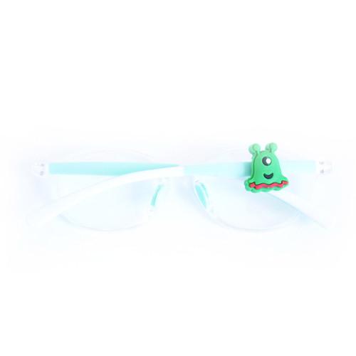 Blinx green alien eyewear charm for glasses