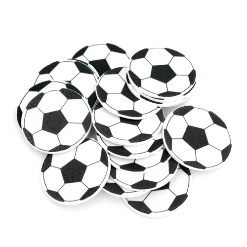 Soccer ball stickers for adhesive eye patches