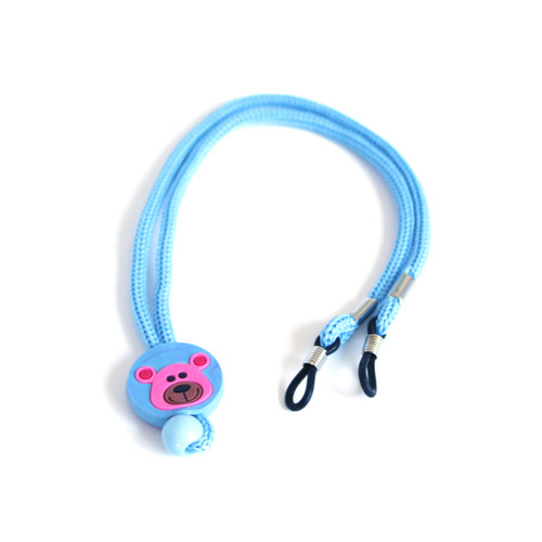 Kids glasses strap blue with teddy
