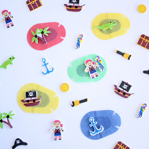 Patching stickers pirate theme