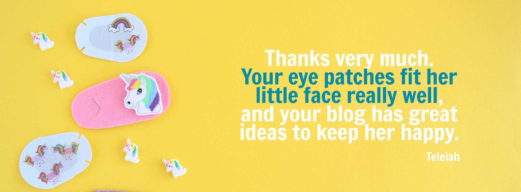 Best eye patches for children testimonial