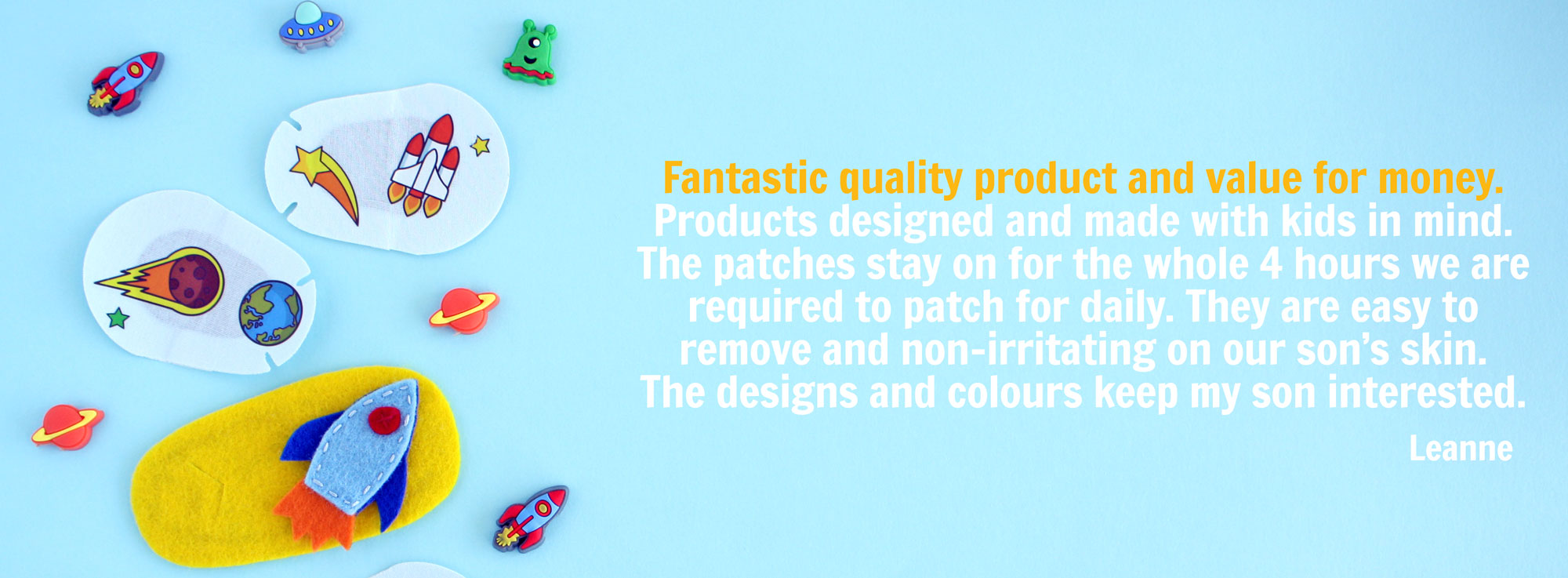 Best eye patches for kids testimonial