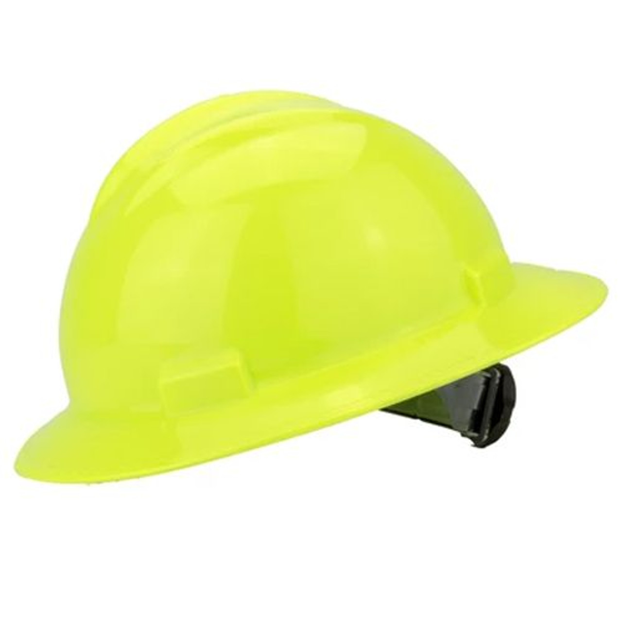 Bullard hard hat suspension one set of 3 yellow straps and clips .