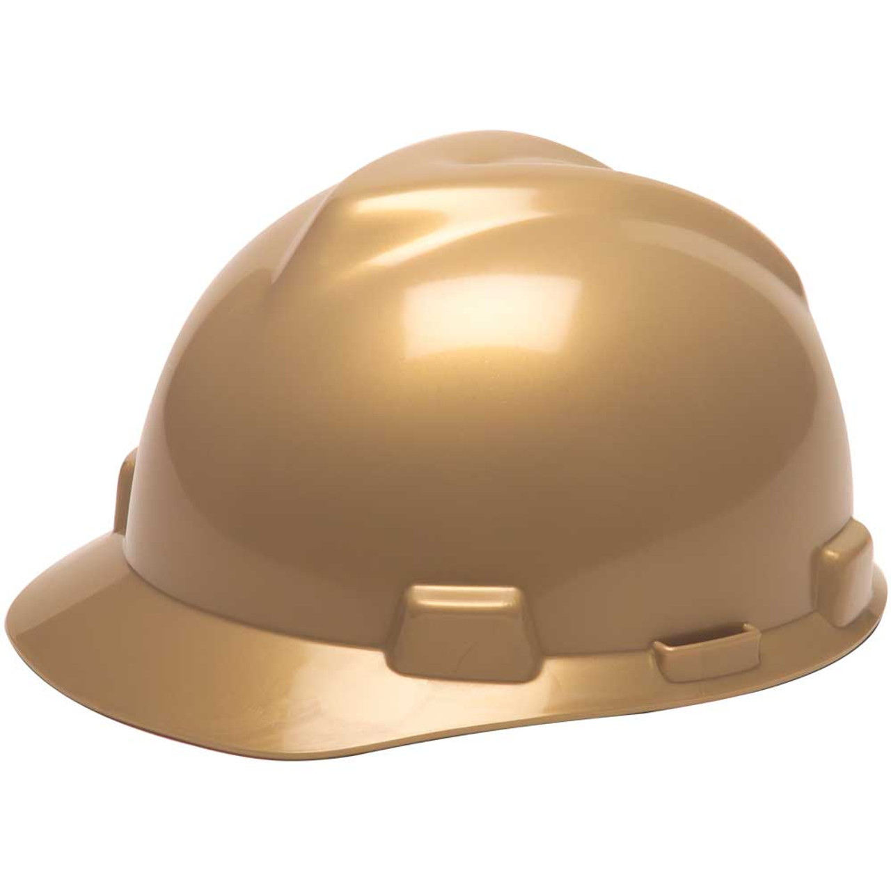 606e9f6b MSA V-Gard protective hard hat cap style with Fas-Trac III Ratchet  suspension