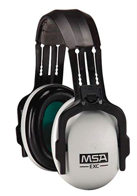 MSA 10061229 SoundControl EXC Headband Earmuffs, Headband earmuffs with NRR 24 dBA, Over-the-head earmuffs for medium noise level, MSA light-weight safety headset, MSA Sound control EXC safety headband, MSA industrial hearing protector,