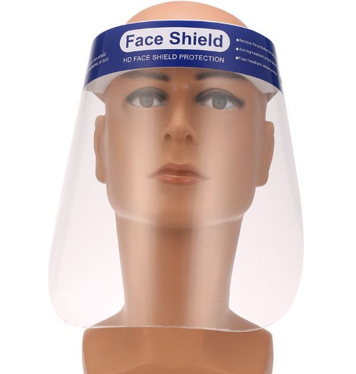 face shield, isolation face shield, visor protection, clear transparent face shield, anti splash face shield, anti spitting face shield, clear full face visor protection, light weight clear face shield, anti fog transparent face shield, face shield with flexible head harness