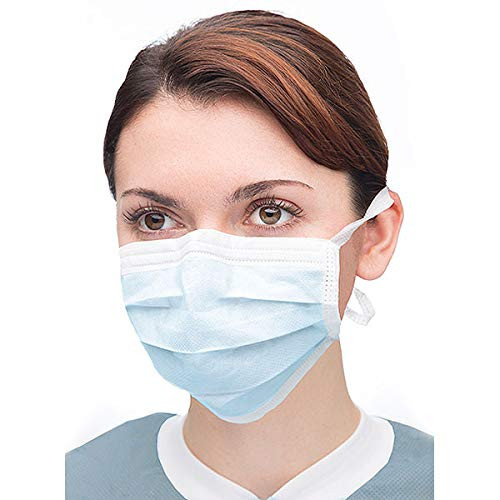 3 Ply Non Woven Surgical Tie Back Face Mask with Filter, ASTM LEVEL 2 Face Masks, BFE >99% face masks, PFE >99% face masks, isolation face mask, procedure mask, dental face mask, PP Melt blown non woven fabric face masks, ISO certified surgical face masks, latex-free 3-ply face masks, CE marked face masks, disposable face masks, 3 ply medical tie-on face masks, CE certified face masks