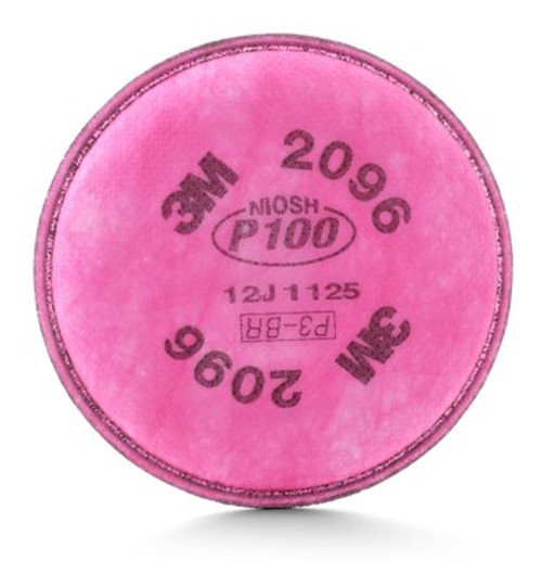 3M 2096 P100 Acid Gas Relief Filters, 3M Particulate Filter 2096 nuisance level acid gas relief, respiratory protection, nuisance odor relief filter