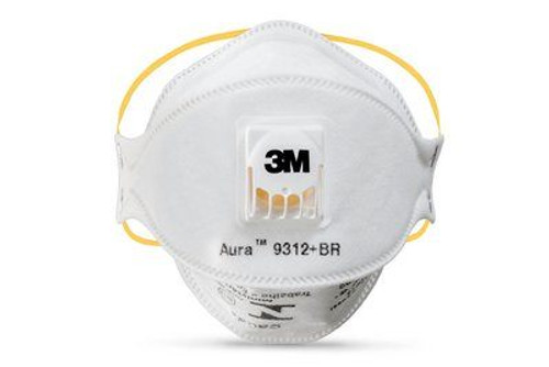 3M 9312A+ TM P1 Aura Particulate Respirator, 3M Aura Particulate Respirators 9300+ Series, flat fold particulate respirator, 3M 9312A+ TM P1, 3M Flat Fold Particulate Respirator 9312, 3M Particulate Respirator with valve, 3M ultra soft flat fold valved respirator, easy breathing industrial respirator with cool flow valve, health & safety valved respirators, 3M disposable respirator,