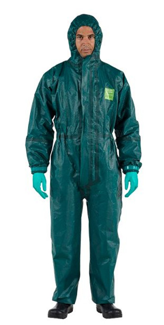 Ansell AlphaTec 4000-111, chemical protective coverall, chemical protective suit, chemical protective clothing, Microchem safety protective overall, liquid protective suit, spray protective suit, hazmat suit, safety suit