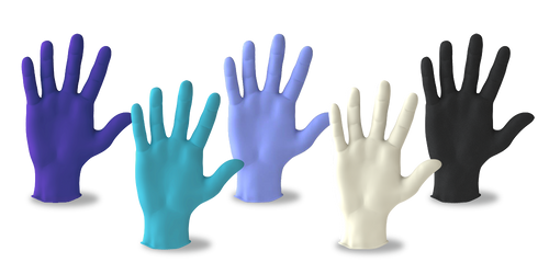 OEM Nitrile Disposable Gloves with Raised Texture Grip, 4 MIL, Powder Free, Latex Free, For Food Prep, Housekeeping, Salon, Cleaning, Home & Industrial Use, FDA & CE Approved