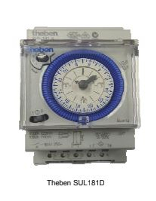 Theben, Theben SUL 181D, SUL 181D, 181D, analogue timer, analogue switch, German-made