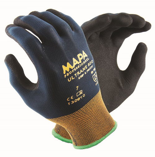 MAPA Ultrane 500 Nitrile Grip and Oil Proof work glove, MAPA Ultrane 500 Nitrile glove, NItrile protective glove, disposable nitrile work glove, tear resistant nitrile glove,