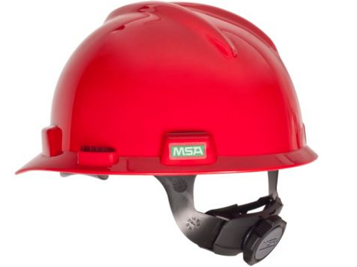 MSA V-Gard Slotted Full Brim Protective Hat w/Fas-Trac III