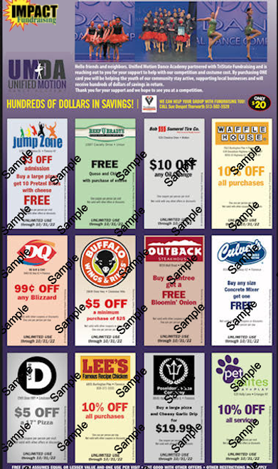 Unified Motion Dance Academy Coupon Card