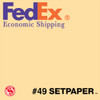 "(ECONOMIC SHIPPING) SETPAPER - CREAMY YELLOW 48"" x 36' (1.2 x 11m)"