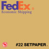 "(ECONOMIC SHIPPING) SETPAPER - BUFF 48"" x 36' (1.3 x 11m)"