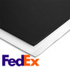"Foamboard - Black/White - 40"" x 40"" x 3/16""  (CHEAPEST SHIPPING OPTION)"