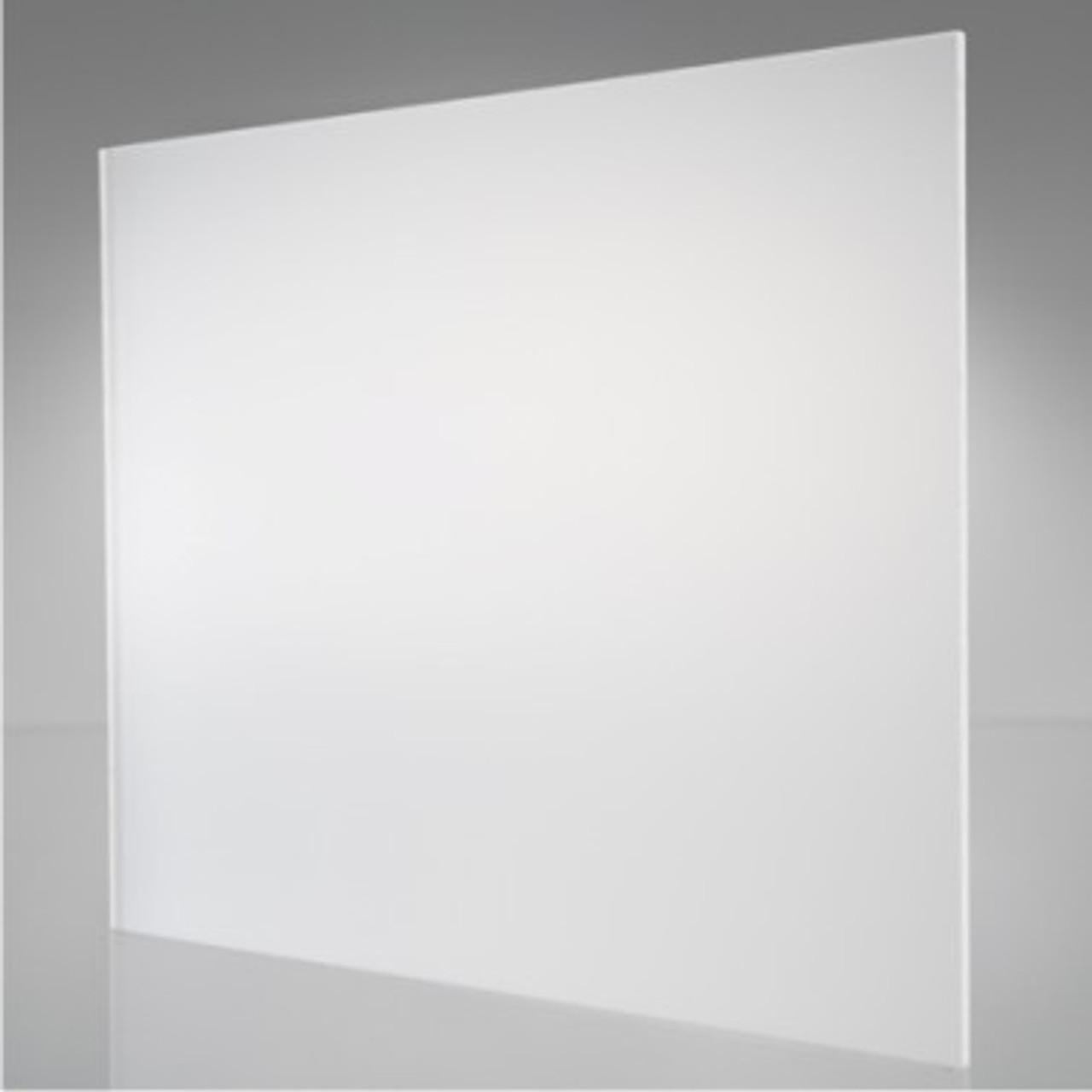 "4' x 8' x 1/8"" Translucent-White Acrylic, P95 ( 1 side matte )"