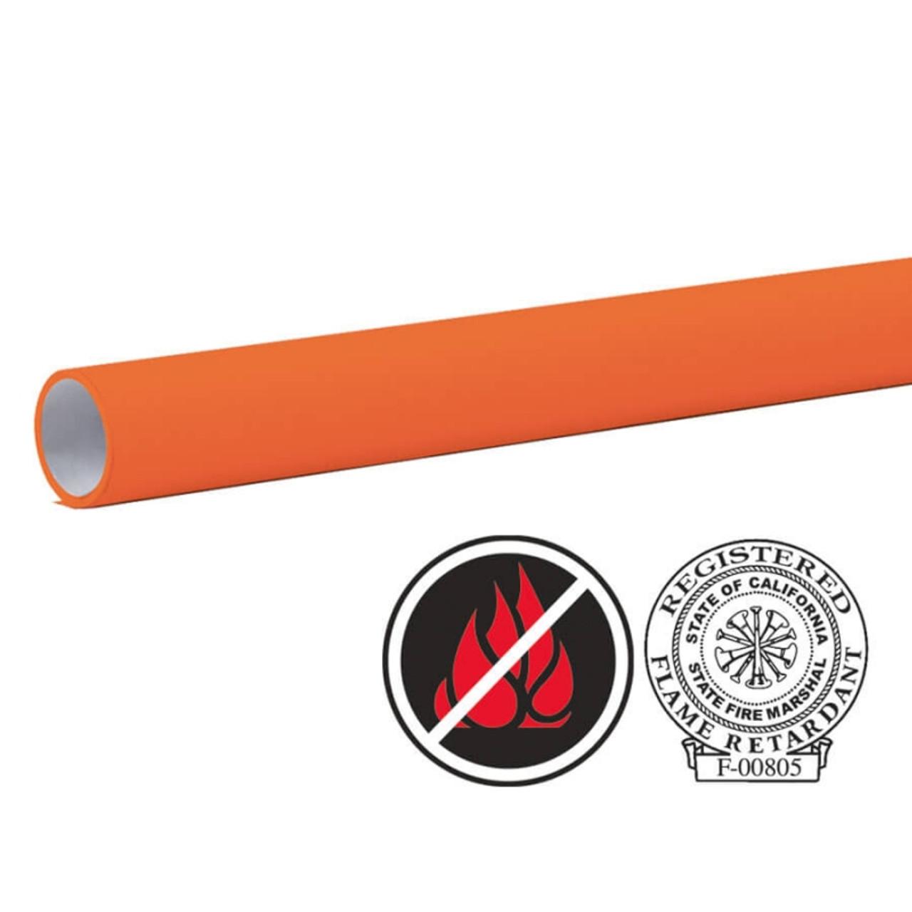 "Pacon Flameless/Fadeless 48""X100', Fiesta Orange Paper"