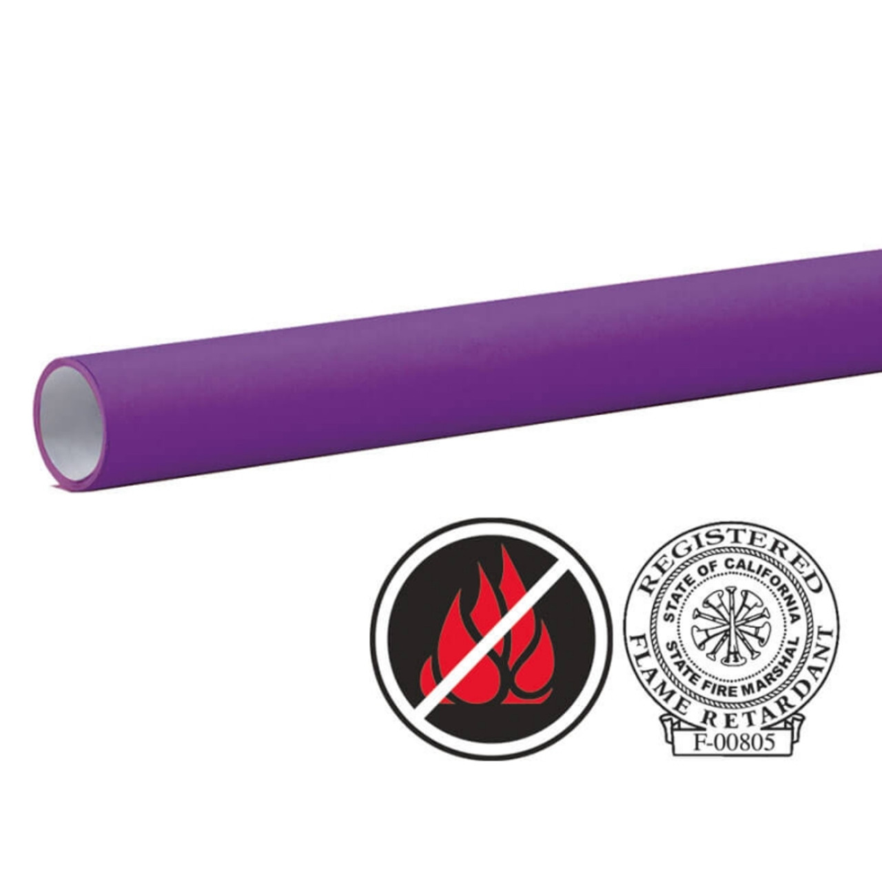 "Pacon Flameless/Fadeless 48""X100', Grape Paper"
