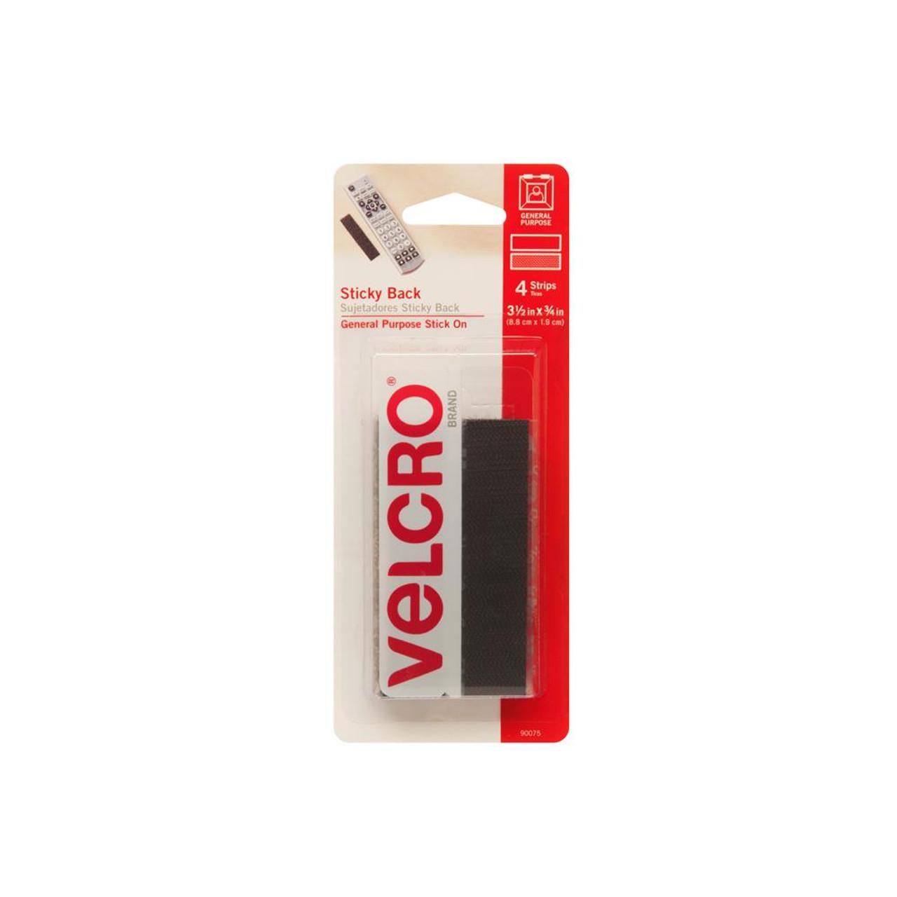 "Velcro-3 1/2""X 3/4"" Strips-Black"