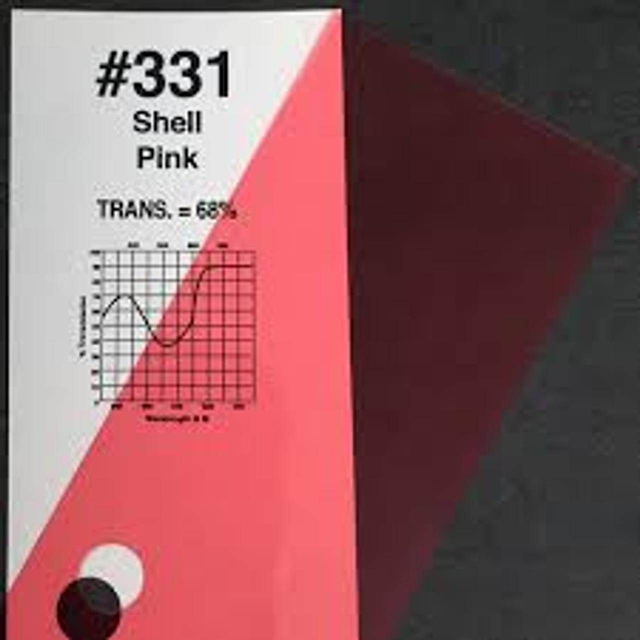 "#0331 Rosco Gels Roscolux lt Salmon, 20x24"""