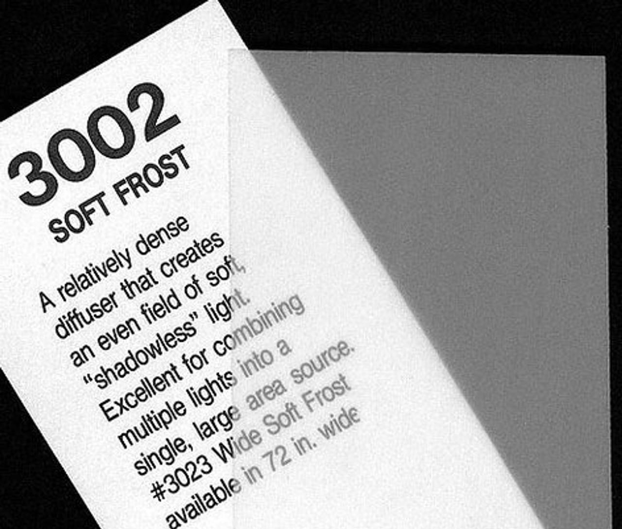 """#3002 Rosco Cinegel Soft Frost, 20x24"""", Gels"""